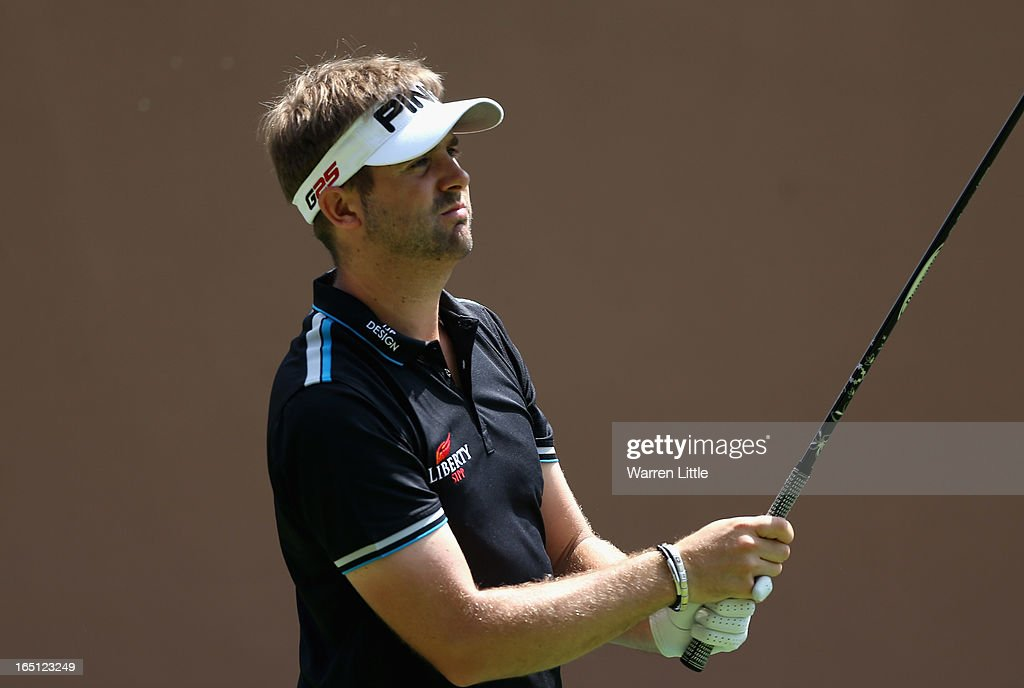 Matthew Baldwin of England in action during the final round of the Trophee du Hassan II Golf at Golf du Palais Royal on March 31, 2013 in Agadir, Morocco.