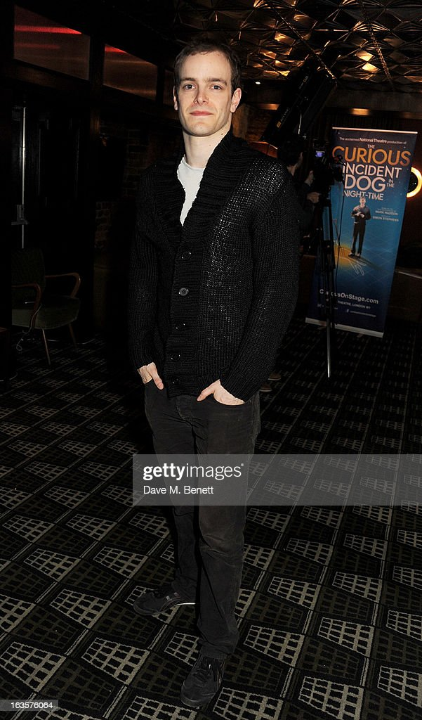 Matthew Barker attends an after party celebrating the press night performance of 'The Curious Incident of the Dog in the Night-Time' at Century on March 12, 2013 in London, England.