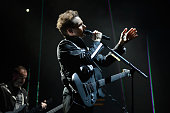 Matthew Bellamy of Muse performs onstage during the MTV EMA's 2012 at Festhalle Frankfurt on November 11 2012 in Frankfurt am Main Germany