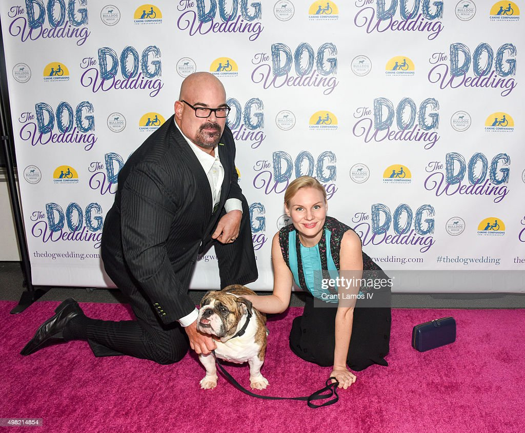 Matthew Bloom and Rosalie Thomass attend 'The Dog Wedding' premiere at NYIT Auditorium on Broadway on November 21, 2015 in New York City.