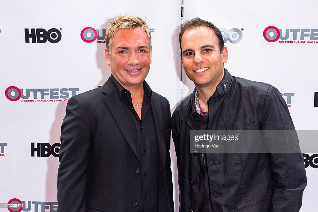 Matthew Boger (L) and director James Cohen arrive at the 13th Annual Outfest Opening Night Gala of 'C.O.G.' at Orpheum Theatre on July 11, 2013 in Los Angeles, California.
