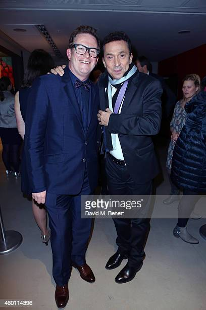 Matthew Bourne and Bruno Tognioli attends a Gala Performance of 'Edward Scissorhands' at Sadler's Wells Theatre on December 7 2014 in London England