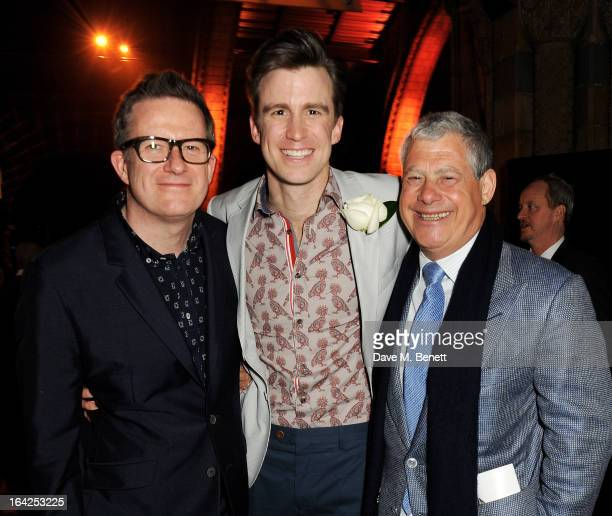 Matthew Bourne Gavin Creel and Sir Cameron Mackintosh attend an after party following the press night performance of 'The Book of Mormon' at the...
