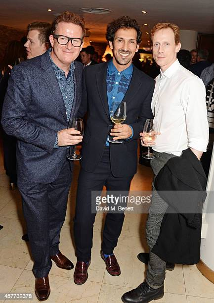 Matthew Bourne guest and Edward Watson attend the press night performance of 'Memphis The Musical' at The Floridita on October 23 2014 in London...