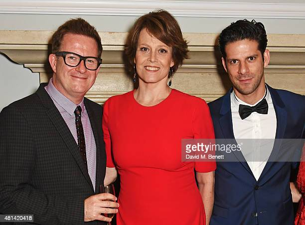 Matthew Bourne Sigourney Weaver and Marcelo Gomes attend a celebration of Brazilian ballet dancer Marcelo Gomes hosted by Sigourney Weaver Ali...