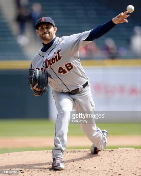 Matthew Boyd of the Detroit Tigers pitches against the Chicago White Sox on April 6 2017 at Guaranteed Rate Field in Chicago Illinois The White Sox...