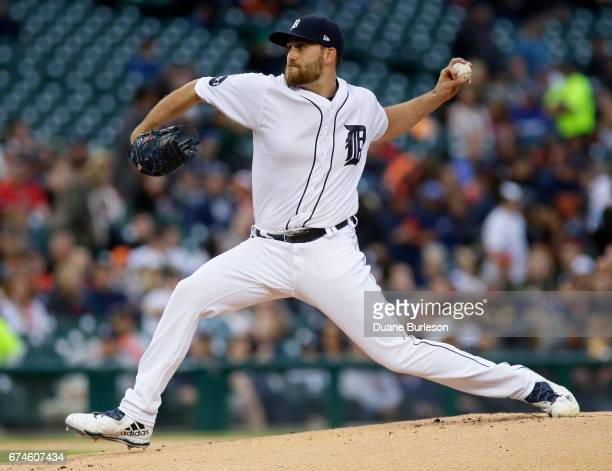 Matthew Boyd of the Detroit Tigers pitches against the Chicago White Sox during the first inning at Comerica Park on April 28 2017 in Detroit Michigan