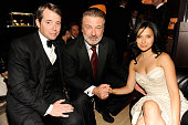 Matthew Broderick Alec Baldwin and guest attends the 65th Annual Tony Awards at the Beacon Theatre on June 12 2011 in New York City