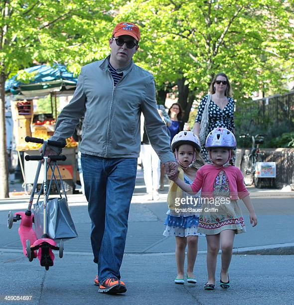 Matthew Broderick and daughters Marion Loretta Broderick and Tabitha Hodge Broderick are seen on May 01 2013 in New York City