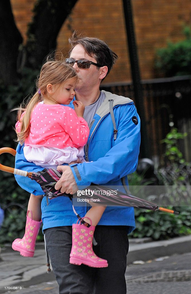<a gi-track='captionPersonalityLinkClicked' href=/galleries/search?phrase=Matthew+Broderick&family=editorial&specificpeople=201912 ng-click='$event.stopPropagation()'>Matthew Broderick</a> and his daughter Marion Broderick seen in the West Village on June 13, 2013 in New York City.