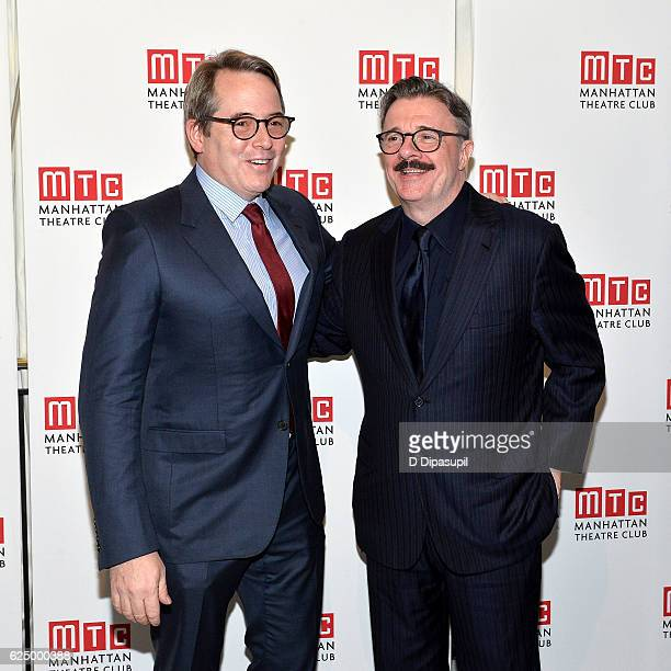 Matthew Broderick and honoree Nathan Lane attend 2016 Manhattan Theatre Club's Fall Benefit at 583 Park Avenue on November 21 2016 in New York City