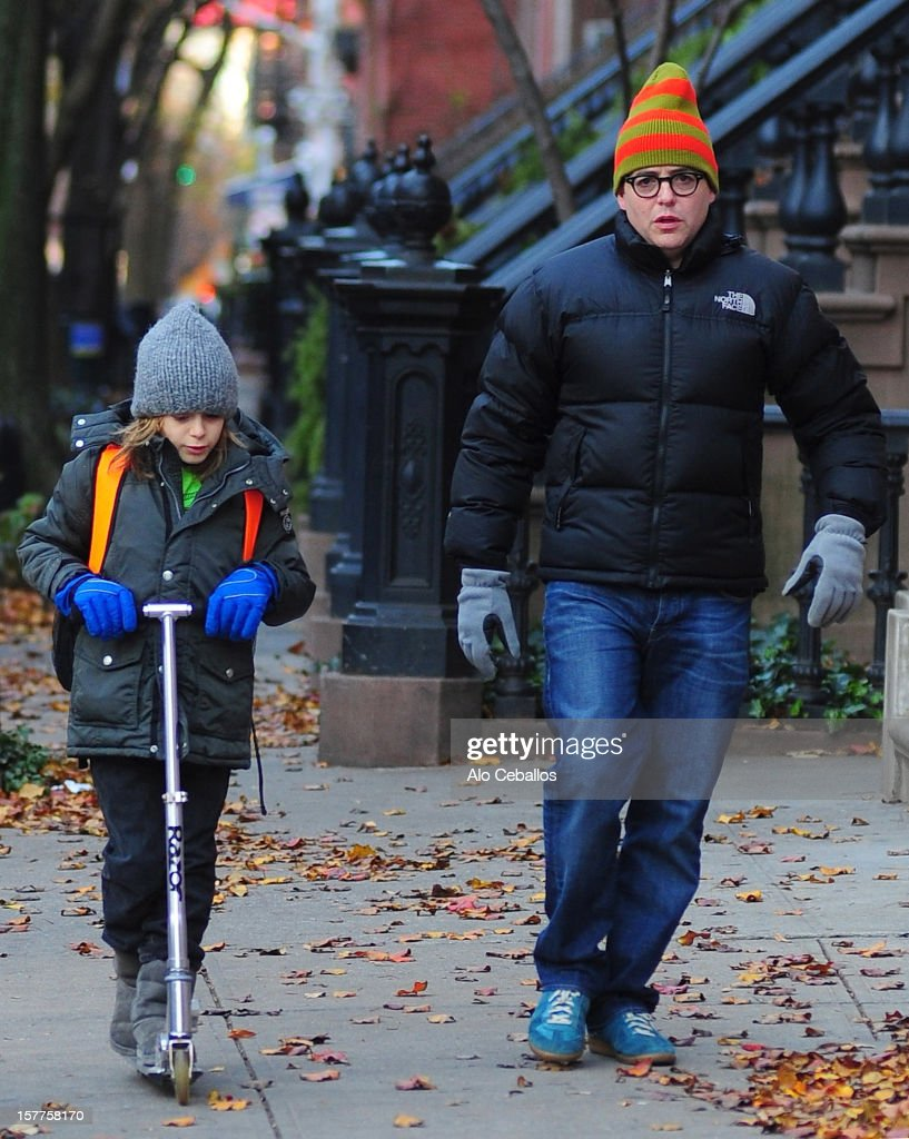 Matthew Broderick and James Wilkie Broderick are seen in the West Village at Streets of Manhattan on December 6, 2012 in New York City.