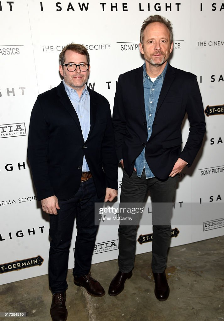 Matthew Broderick and John Benjamin Hickey attend The Cinema Society With Hestia StGermain Host a Screening of Sony Pictures Classics' 'I Saw the...