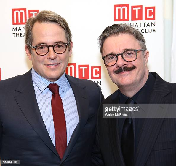 Matthew Broderick and Nathan Lane attend the 2016 Manhattan Theatre Club's Fall Benefit at 583 Park Avenue on November 21 2016 in New York City