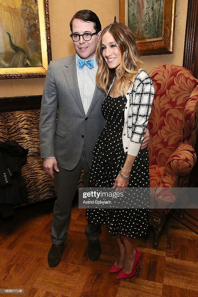 Matthew Broderick and Sarah Jessica Parker attend the 10th Annual Love 'N' Courage Benefit For TNC's Emerging Playwrights Program at The National Arts Club on February 25, 2013 in New York City.