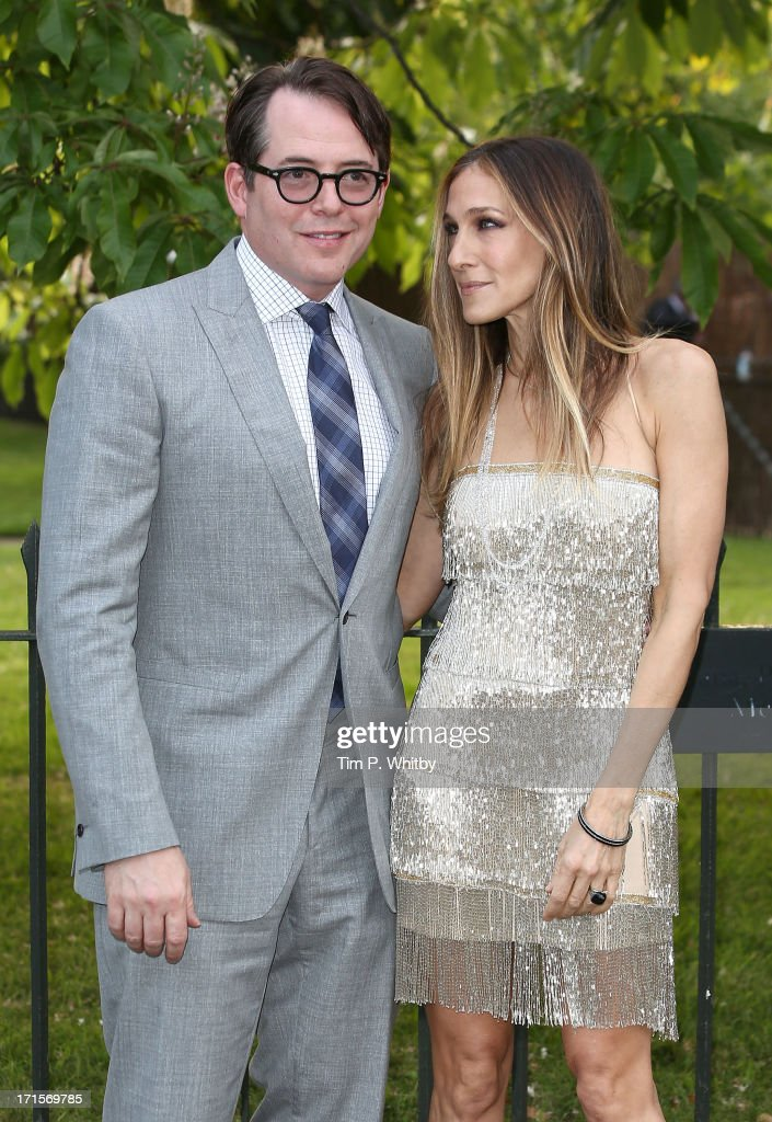 <a gi-track='captionPersonalityLinkClicked' href=/galleries/search?phrase=Matthew+Broderick&family=editorial&specificpeople=201912 ng-click='$event.stopPropagation()'>Matthew Broderick</a> and <a gi-track='captionPersonalityLinkClicked' href=/galleries/search?phrase=Sarah+Jessica+Parker&family=editorial&specificpeople=201693 ng-click='$event.stopPropagation()'>Sarah Jessica Parker</a> attend the annual Serpentine Gallery summer party at The Serpentine Gallery on June 26, 2013 in London, England.