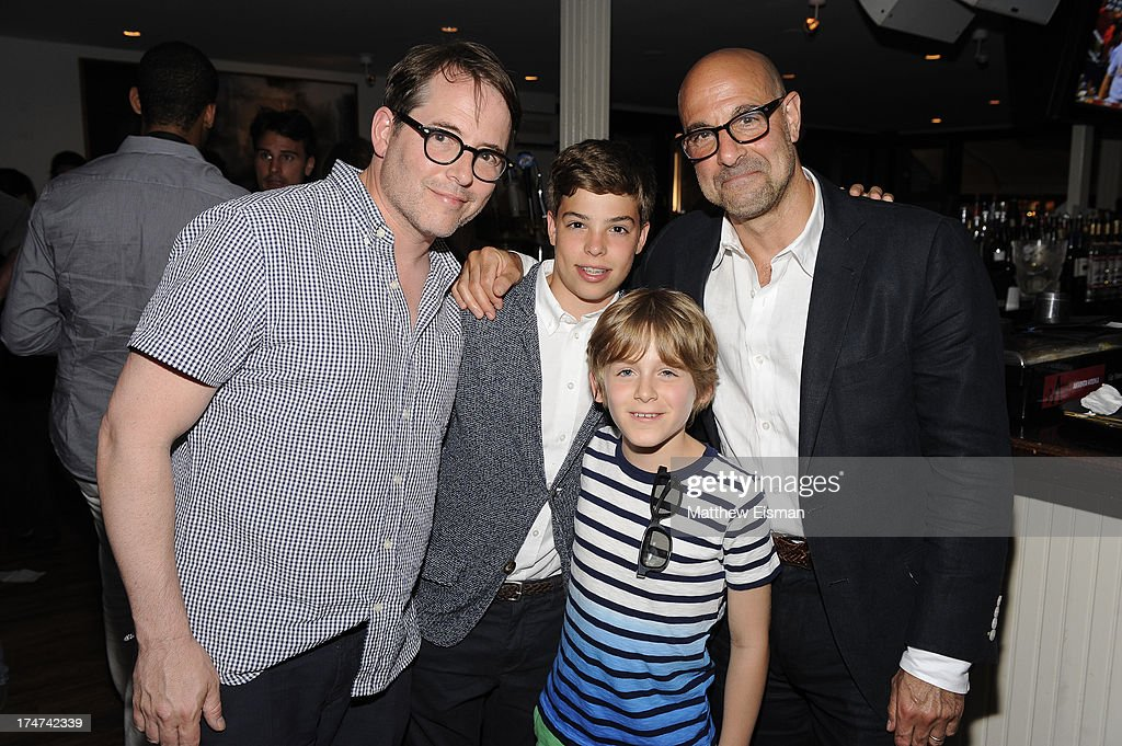 <a gi-track='captionPersonalityLinkClicked' href=/galleries/search?phrase=Matthew+Broderick&family=editorial&specificpeople=201912 ng-click='$event.stopPropagation()'>Matthew Broderick</a> (L) and <a gi-track='captionPersonalityLinkClicked' href=/galleries/search?phrase=Stanley+Tucci&family=editorial&specificpeople=209366 ng-click='$event.stopPropagation()'>Stanley Tucci</a> attend 'Percy Jackson: Sea Of Monsters' Hamptons Premiere afterparty at 75 Main Street on July 28, 2013 in Southampton, New York.