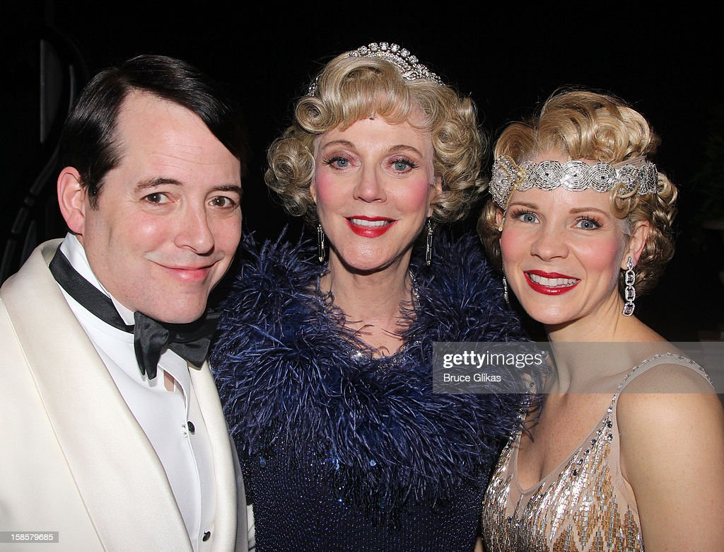 <a gi-track='captionPersonalityLinkClicked' href=/galleries/search?phrase=Matthew+Broderick&family=editorial&specificpeople=201912 ng-click='$event.stopPropagation()'>Matthew Broderick</a>, <a gi-track='captionPersonalityLinkClicked' href=/galleries/search?phrase=Blythe+Danner&family=editorial&specificpeople=171210 ng-click='$event.stopPropagation()'>Blythe Danner</a> and <a gi-track='captionPersonalityLinkClicked' href=/galleries/search?phrase=Kelli+O%27Hara+-+Actress&family=editorial&specificpeople=225013 ng-click='$event.stopPropagation()'>Kelli O'Hara</a> pose backstage at the musical 'Nice Work If You Can Get It' on Broadway at The Imperial Theater on December 19, 2012 in New York City.