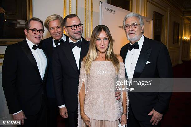 Matthew Broderick Michael Smith James Costos Sarah Jessica Parker Placido Domingo attend The Hispanic Society Museum and Library 2016 Gala at...