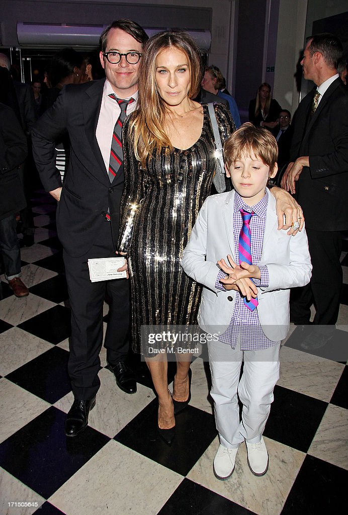 <a gi-track='captionPersonalityLinkClicked' href=/galleries/search?phrase=Matthew+Broderick&family=editorial&specificpeople=201912 ng-click='$event.stopPropagation()'>Matthew Broderick</a>, <a gi-track='captionPersonalityLinkClicked' href=/galleries/search?phrase=Sarah+Jessica+Parker&family=editorial&specificpeople=201693 ng-click='$event.stopPropagation()'>Sarah Jessica Parker</a> and their son <a gi-track='captionPersonalityLinkClicked' href=/galleries/search?phrase=James+Wilkie+Broderick&family=editorial&specificpeople=5579643 ng-click='$event.stopPropagation()'>James Wilkie Broderick</a> attend an after party celebrating the press night performance of 'Charlie And The Chocolate Factory' at The Grand Connaught Rooms on June 25, 2013 in London, England.