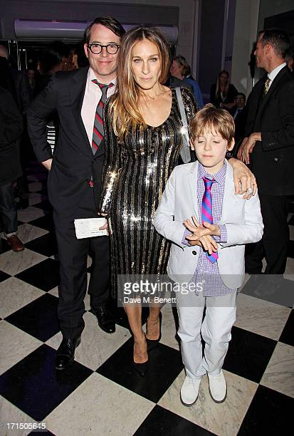 Matthew Broderick Sarah Jessica Parker and their son James Wilkie Broderick attend an after party celebrating the press night performance of 'Charlie...
