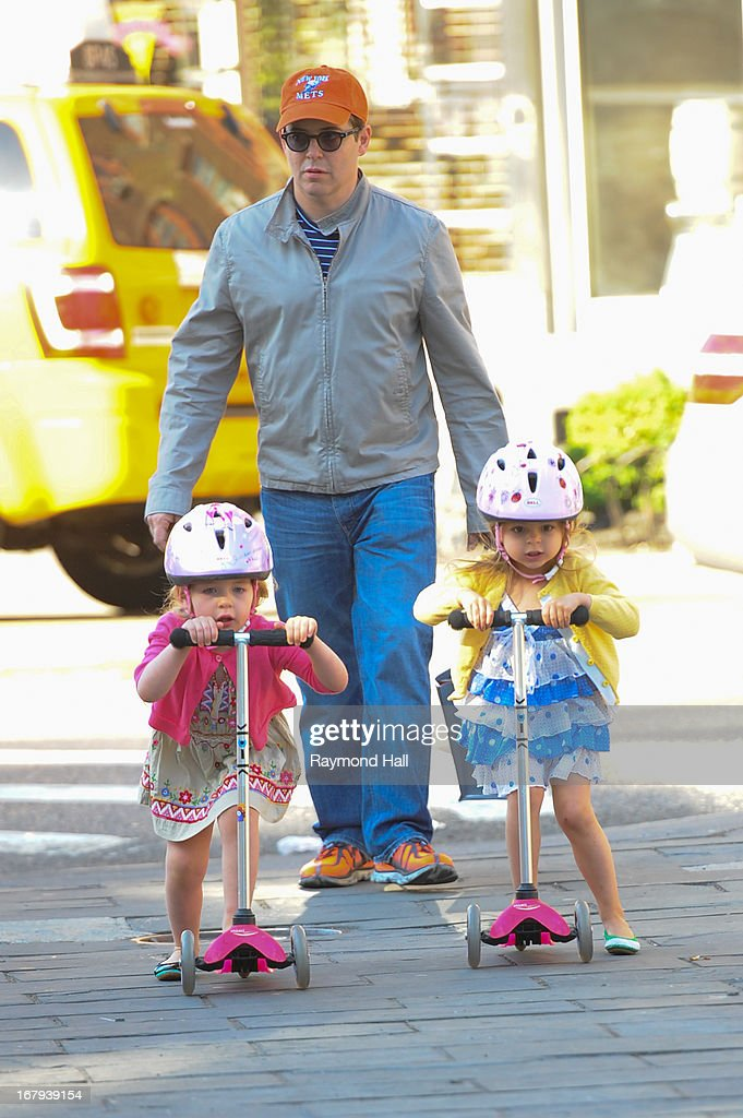 Matthew Broderick (C), Tabitha Broderick and Marion Broderick are seen in SoHo on May 2, 2013 in New York City.