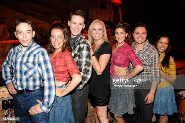 Matthew Burns Kelly Chapin Schmidt Christopher Timson Shea Sullivan Sarah Hiance Steve Chazaro and Alicia Jagrup attend Opening of A Moment in Time...