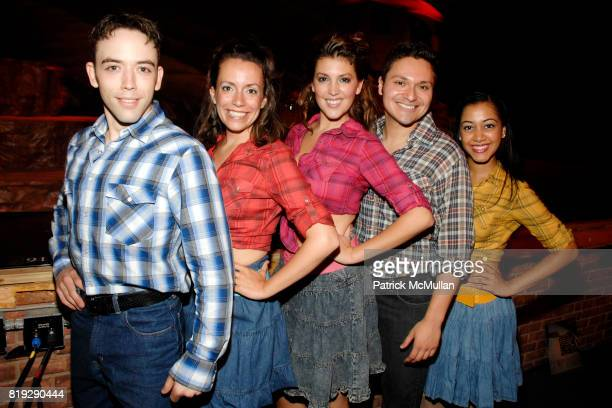 Matthew Burns Kelly Chapin Schmidt Sarah Hiance Steve Chazaro and Alicia Jagrup attend Opening of A Moment in Time by Stewart F Lane at Performing...