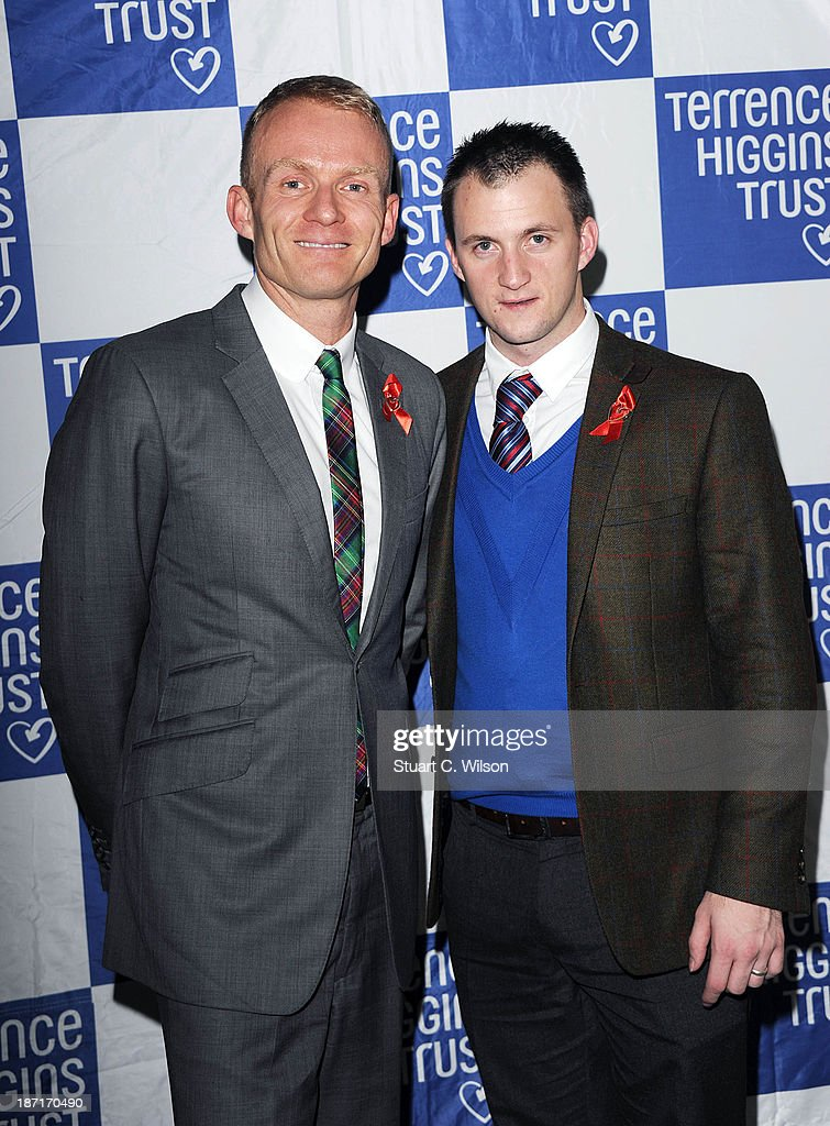 Matthew Cain (L) attends 'The Supper Club' in aid of The Terrance Higgins Trust at One Mayfair on November 6, 2013 in London, England.