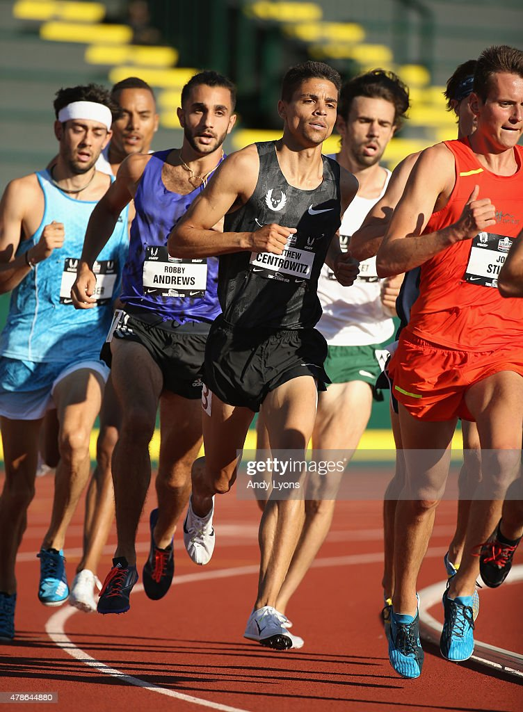 <a gi-track='captionPersonalityLinkClicked' href=/galleries/search?phrase=Matthew+Centrowitz&family=editorial&specificpeople=7293929 ng-click='$event.stopPropagation()'>Matthew Centrowitz</a> competes in the Mens 1500 Meter during day one of the 2015 USA Outdoor Track & Field Championships at Hayward Field on June 25, 2015 in Eugene, Oregon.