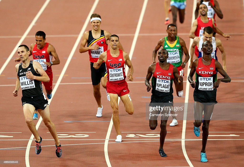 <a gi-track='captionPersonalityLinkClicked' href=/galleries/search?phrase=Matthew+Centrowitz&family=editorial&specificpeople=7293929 ng-click='$event.stopPropagation()'>Matthew Centrowitz</a> of the United States, <a gi-track='captionPersonalityLinkClicked' href=/galleries/search?phrase=Silas+Kiplagat&family=editorial&specificpeople=7124526 ng-click='$event.stopPropagation()'>Silas Kiplagat</a> of Kenya and <a gi-track='captionPersonalityLinkClicked' href=/galleries/search?phrase=Asbel+Kiprop&family=editorial&specificpeople=4210009 ng-click='$event.stopPropagation()'>Asbel Kiprop</a> of Kenya cross the finish line in the Men's 1500 metres semi-final during day seven of the 15th IAAF World Athletics Championships Beijing 2015 at Beijing National Stadium on August 28, 2015 in Beijing, China.