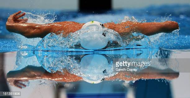 Matthew Cowdrey of Australia competes in the Men's 200m Individual Medley SM9 final on day 8 of the London 2012 Paralympic Games at Aquatics Centre...