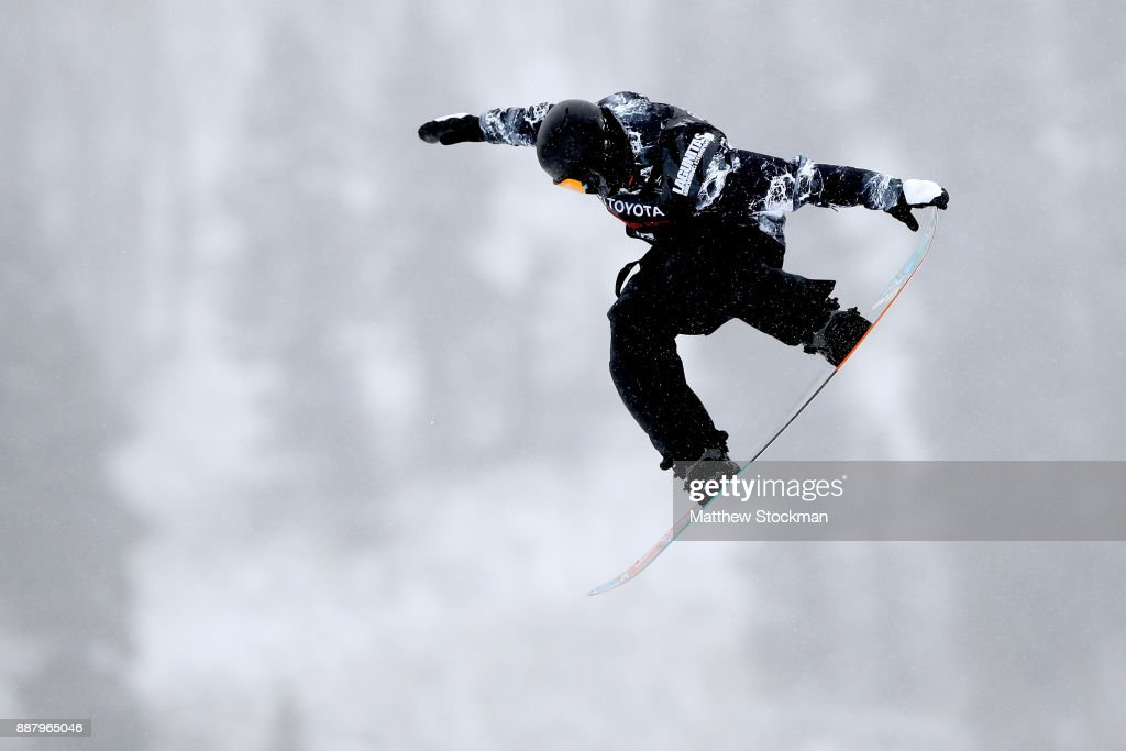 Matthew Cox #57 of Australia trains for the FIS World Cup 2018 Men's Snowboard Big Air during the Toyota U.S. Grand Prix on December 7, 2017 in Copper Mountain, Colorado.