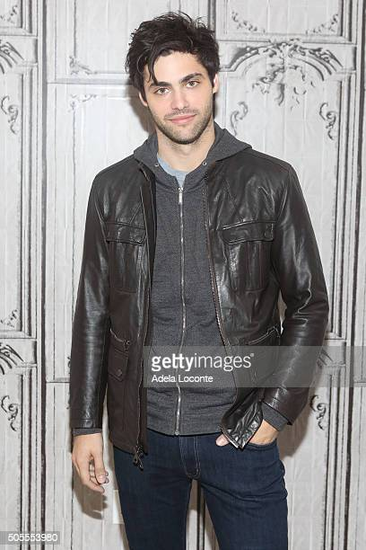 Matthew Daddario attends 'Shadowhunters' at AOL Studios In New York on January 18 2016 in New York City