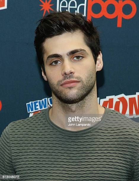 Matthew Daddario attends Shadowhunters press conference during the 2016 New York Comic Con day 3 on October 8 2016 in New York City