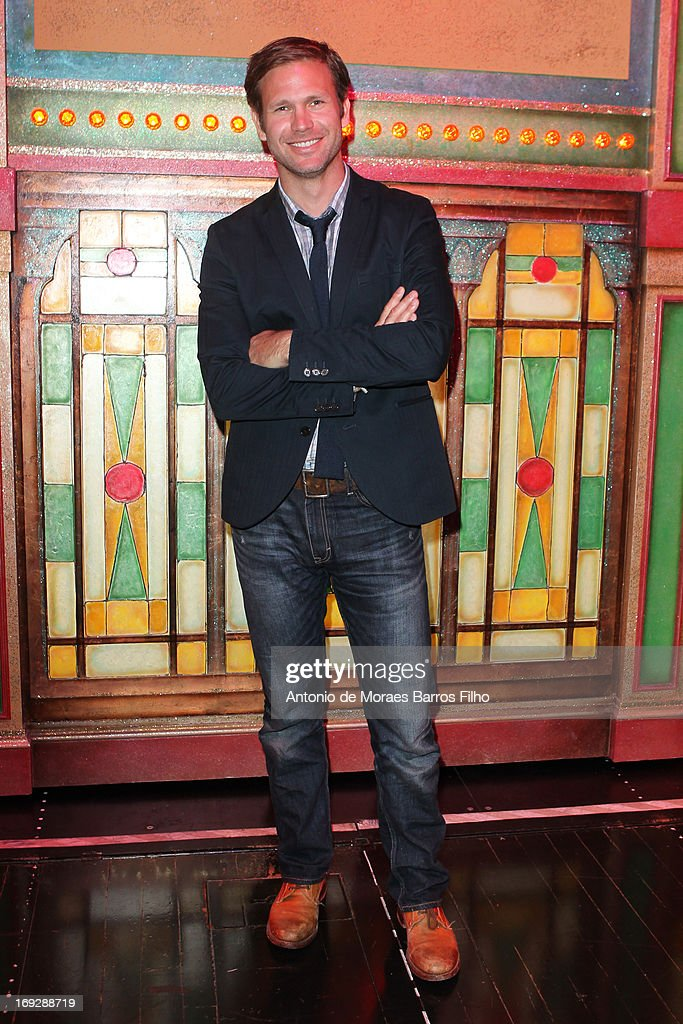 Matthew Davis poses backstage at Le Moulin Rouge on May 22, 2013 in Paris, France.