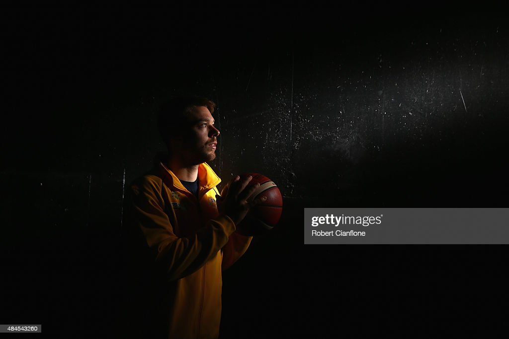 Matthew Dellavedova poses during an Australian Boomers Basketball team portrait session at The Blackman Hotel on August 20, 2015 in Melbourne, Australia.