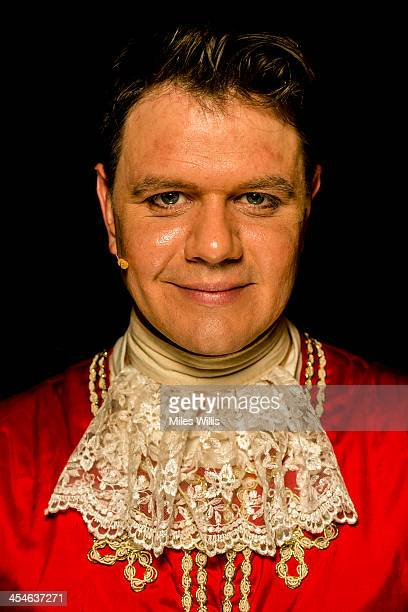 Matthew Dempsey playing 'Thomas' poses for a portrait during the Puss in Boots pantomime at the Hackney Empire on December 6 2013 in London England