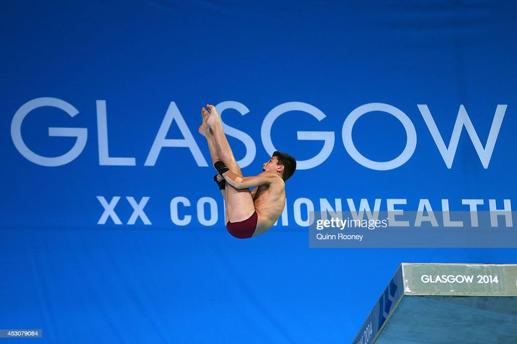 Matthew Dixon of England competes in the Men's 10m Platform Final at Royal Commonwealth Pool during day ten of the Glasgow 2014 Commonwealth Games on August 2, 2014 in Edinburgh, United Kingdom.