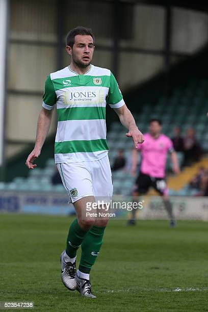 Matthew Dolan of Yeovil Town in action during the Sky Bet League Two match between Yeovil Town and Northampton Town at Huish Park on April 23 2016 in...