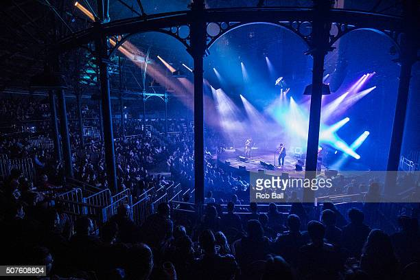 Matthew E White performs at The Roundhouse on January 30 2016 in London England
