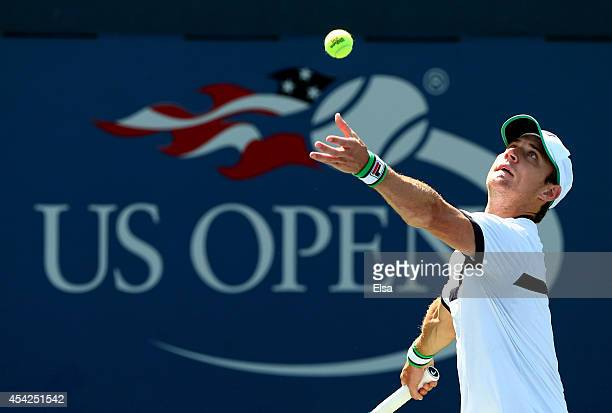 Matthew Ebden of Australia on Day Three of the 2014 US Open at the USTA Billie Jean King National Tennis Center on August 27 2014 in the Flushing...