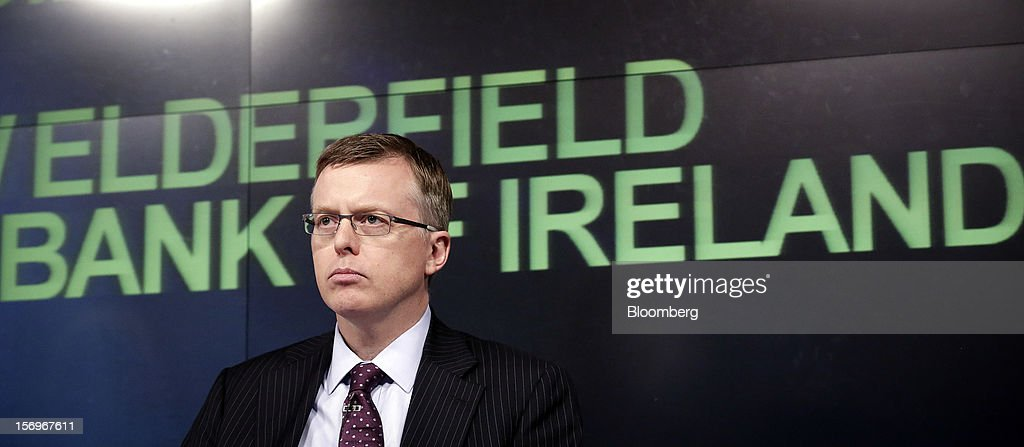 Matthew Elderfield, head of financial regulation at Ireland's central bank, pauses during an event in London, U.K., on Monday, Nov. 26, 2012. European leaders must put the funds and tools in place to rescue ailing lenders before they transfer oversight to the region's central bank or they risk worsening the sovereign-debt crisis, Elderfield said. Photographer: Jason Alden/Bloomberg via Getty Images