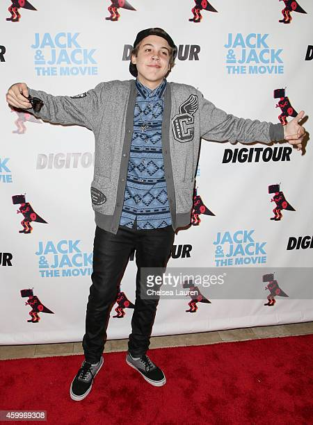 Matthew Espinosa arrives at DigiTour presents 'Jack Jack The Movie' Los Angeles premiere at Pacific Theatre at The Grove on December 4 2014 in Los...