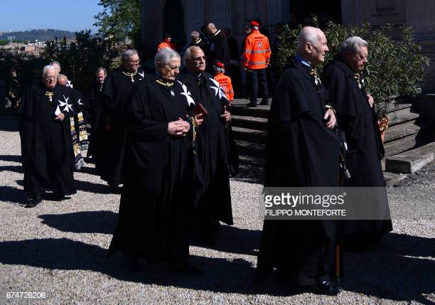 Matthew Festing former Grand Master of the Order of Malta walks in procession along with other Knights of Malta before the election of the new Grand...