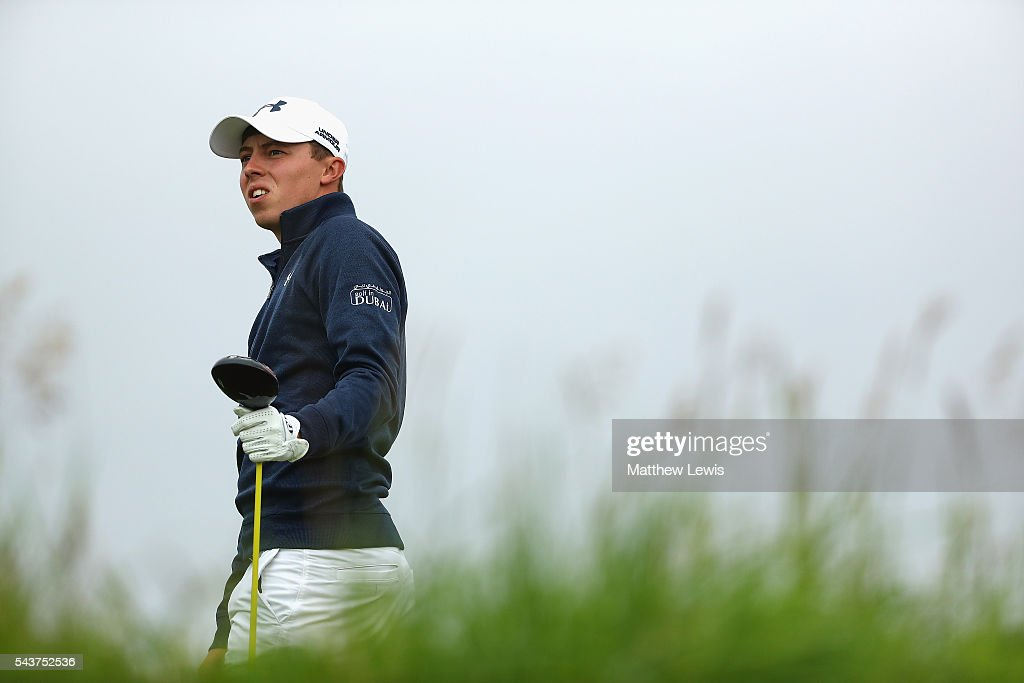 <a gi-track='captionPersonalityLinkClicked' href=/galleries/search?phrase=Matthew+Fitzpatrick+-+Golfer&family=editorial&specificpeople=8019521 ng-click='$event.stopPropagation()'>Matthew Fitzpatrick</a> of England looks on during day one of the 100th Open de France at Le Golf National on June 30, 2016 in Paris, France.