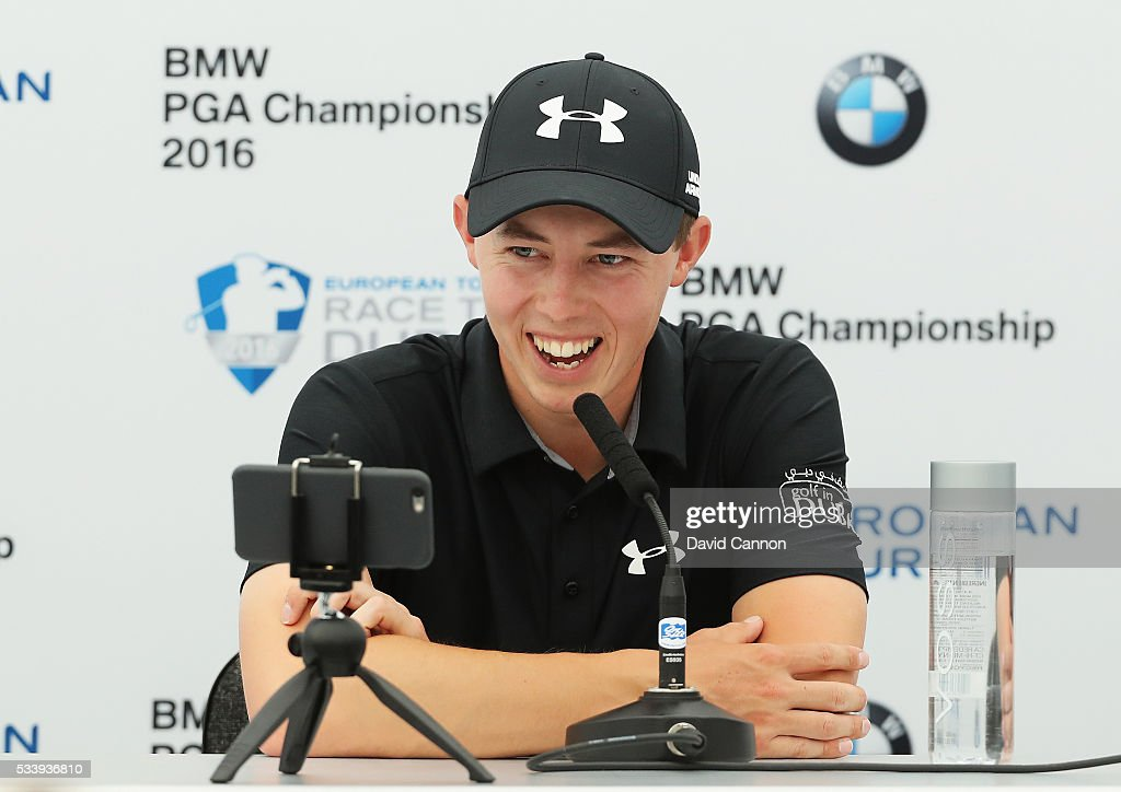 <a gi-track='captionPersonalityLinkClicked' href=/galleries/search?phrase=Matthew+Fitzpatrick+-+Golfer&family=editorial&specificpeople=8019521 ng-click='$event.stopPropagation()'>Matthew Fitzpatrick</a> of England talks during a press conference prior to the BMW PGA Championship at Wentworth on May 24, 2016 in Virginia Water, England.