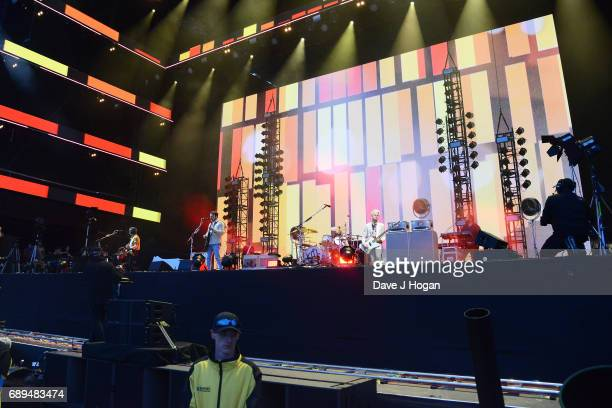 Matthew Followill Caleb Followill Nathan Followill and Jared Followill of the band Kings of Leon attend Day 2 of BBC Radio 1's Big Weekend 2017 at...