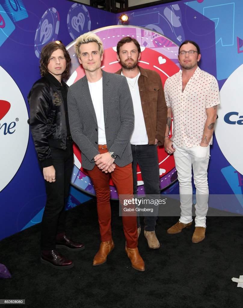 Matthew Followill, Jared Followill, Caleb Followill, and Nathan Followill of music group Kings Of Leon attend the 2017 iHeartRadio Music Festival at T-Mobile Arena on September 23, 2017 in Las Vegas, Nevada.