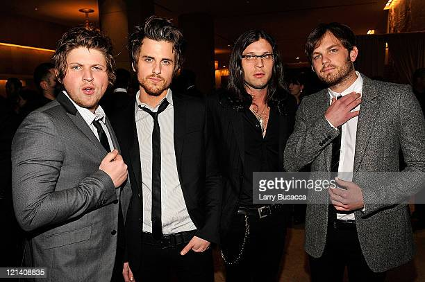 Matthew Followill Jared Followill Nathan Followill and Caleb Followill attend the 2009 GRAMMY Salute To Industry Icons honoring Clive Davis at the...
